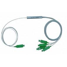 Ответвитель оптический 1х4, PLC SM, равномерный ,1260-1650 nm, 1 m, 0,9 mm, SCAPC микрокорпус