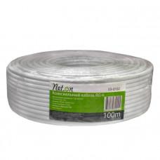 Кабель коаксиальный Net.on RG-6U (75Ом, 96%) белый,100м