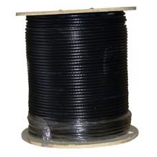 Кабель коаксиальный RG6 Commscope F660BV B, 75 Ом, 305м, Black (черный)