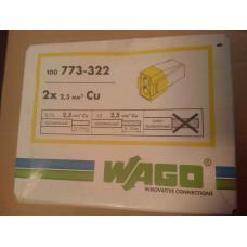 Электромонтажные экспресс-клеммы(2х2,5мм2) 100шт. WAGO