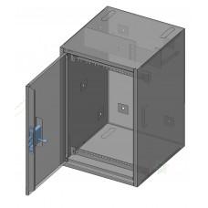 Корпус антивандальный ШВ 9U, DIN рейка, кабельный органайзер