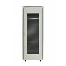 Шкаф напольный 42U/600х800 - стеклянная дверь