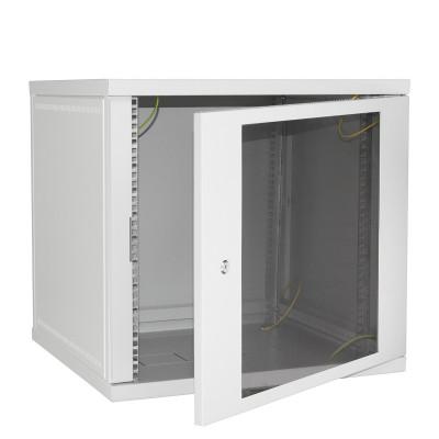 Шкаф разборный настенный 9U/600х500, дверь стекло