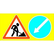 Знаки дорожные ГОСТ (желтый фон) в ассортименте