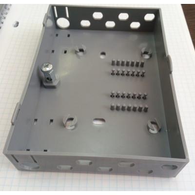 Кросс оптический настенный на 12 портов FC с ложементом