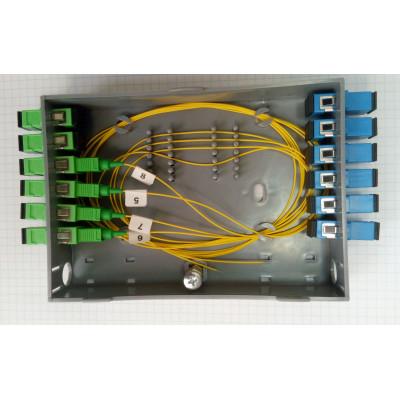 Кросс оптический настенный на 12 портов SC/LC с ложементом