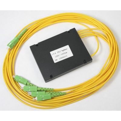 Ответвитель PLC 1х4 BOX SC/APC, 1-1,5 m, 3,0mm, SM, равномерный ,1260-1650 nm