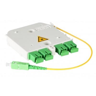 Сплиттер 1х4 - Модуль ССД М3-4SC-1PLC 2,0-1/4SC/APC-4SC/APC