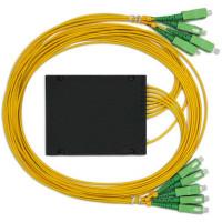 Ответвитель PLC 1х8 BOX SC/APC, 1 m, 3.0mm, SM, равномерный ,1260-1650 nm