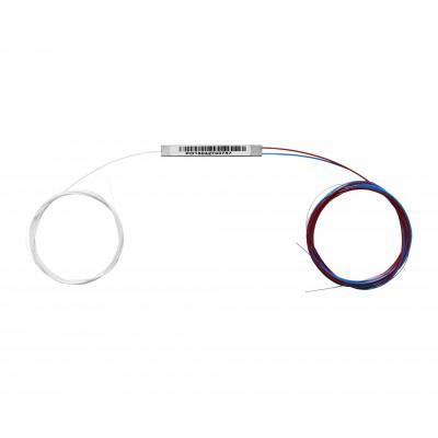 Ответвитель PLC 1х2 микро неоконц., 1-1,5 m, 0.9mm, SM, равномерный ,1260-1650 nm