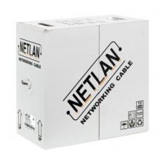 Кабель NETLAN F/ UTP 4 пары, Кат.5e, внешний , PE -40, одножильный,100Мгц, черный 305м