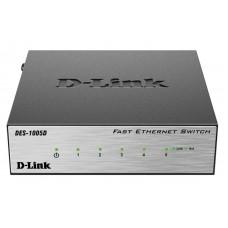 Коммутатор 5 портовый 10/100 DL-DES-1005D/O2B