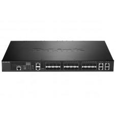 Коммутатор управляемый с 20 портами 10G SFP+ и 4 комбо-портами 10GBase-T/SFP+ DL-DXS-3400-24SC/A1ASI