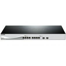 Коммутатор Smart уровня 2+ с 8 портами 10GBase-T и 2 портами SFP+ DL-DXS-1210-10TS/A2A